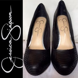 Jessica Simpson Snake black platform stiletto heel